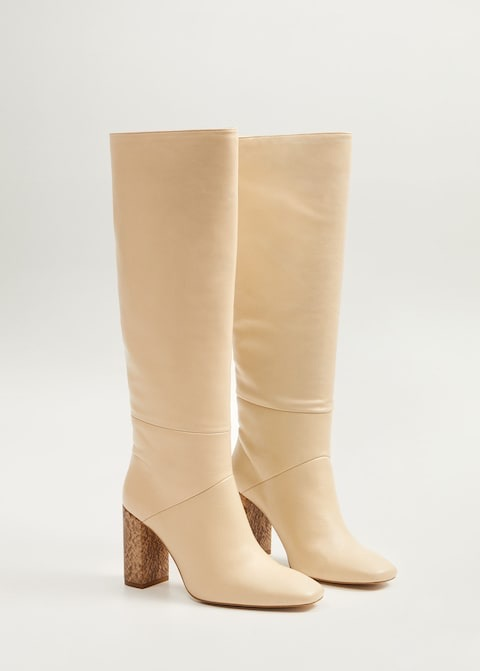 Leather high-leg boots $249.99