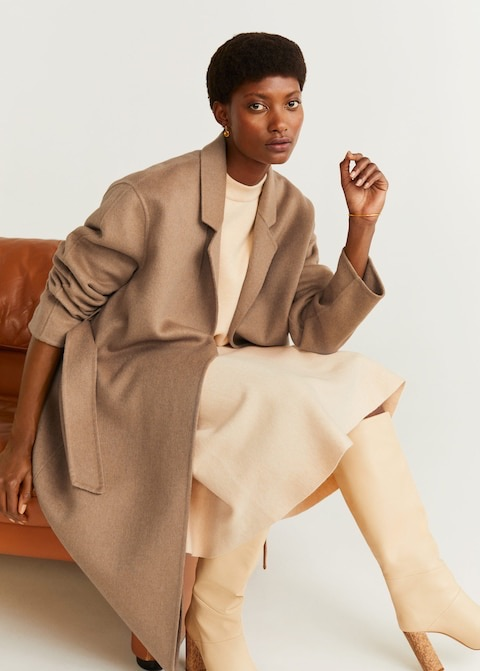 Unstructured wool-blend coat $199.99