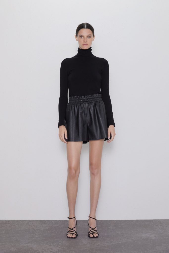 FAUX LEATHER SHORTS $35.90