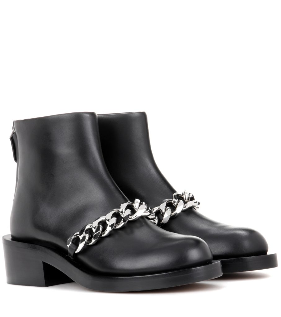 GIVENCHY Chain leather ankle boots$ 1,395