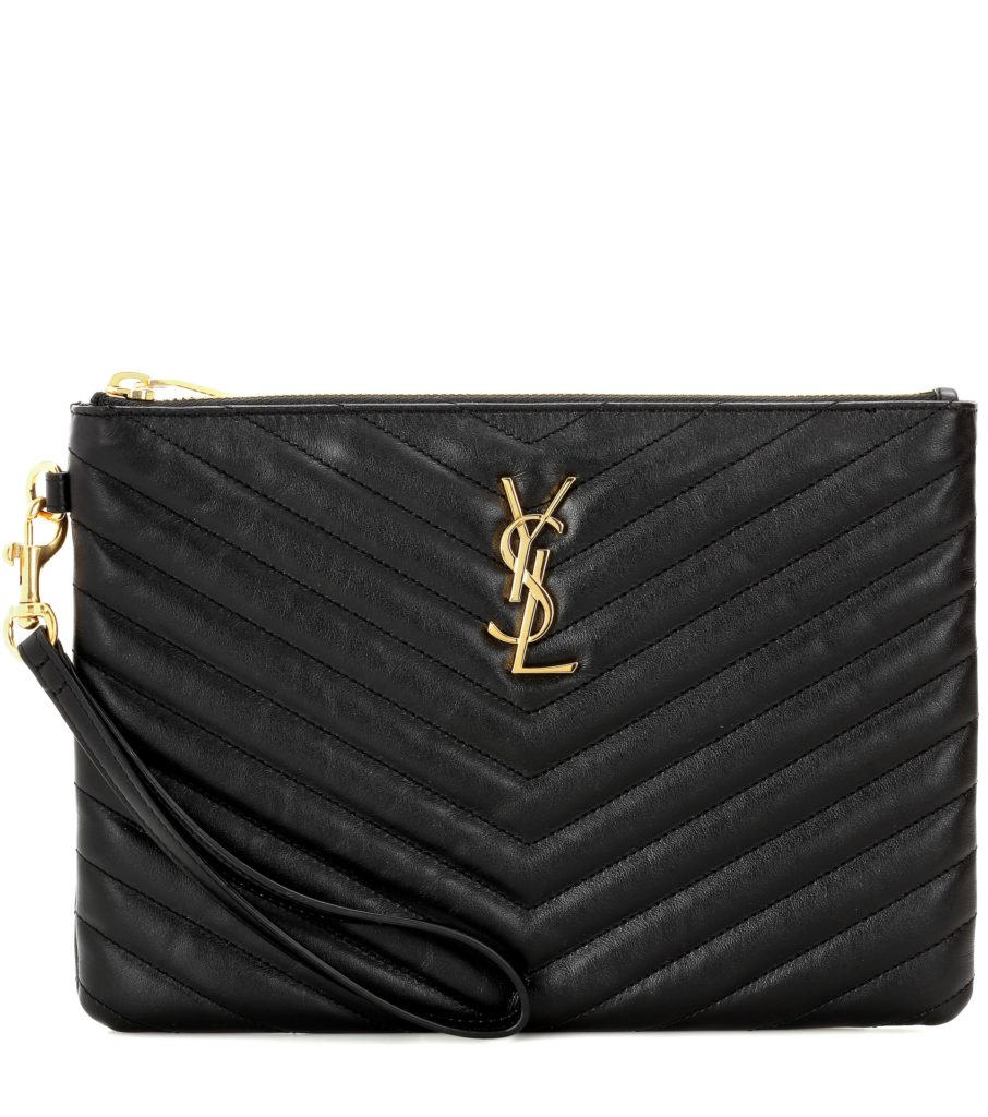 SAINT LAURENT   Monogram leather pouch$ 695