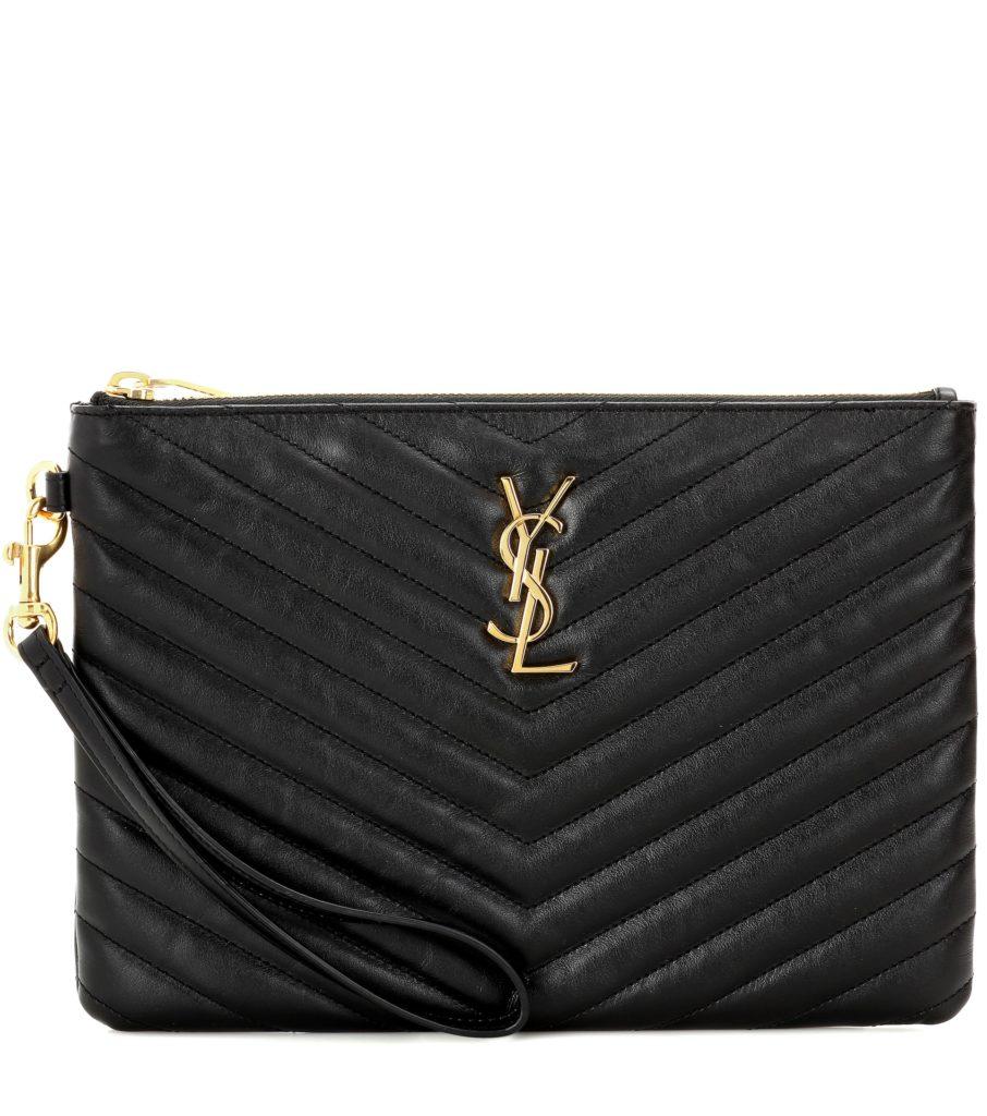SAINT LAURENT   Monogram leather pouch$ 695