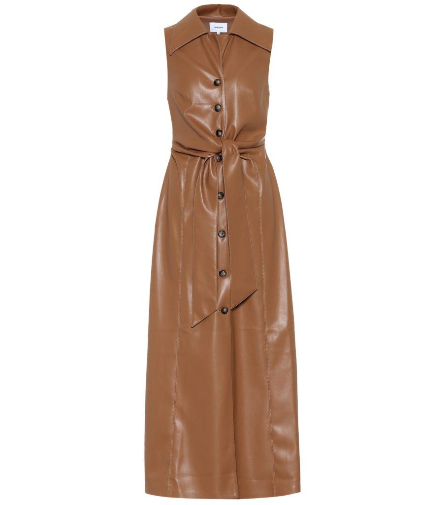 NANUSHKA Sharma faux leather midi dress $ 645