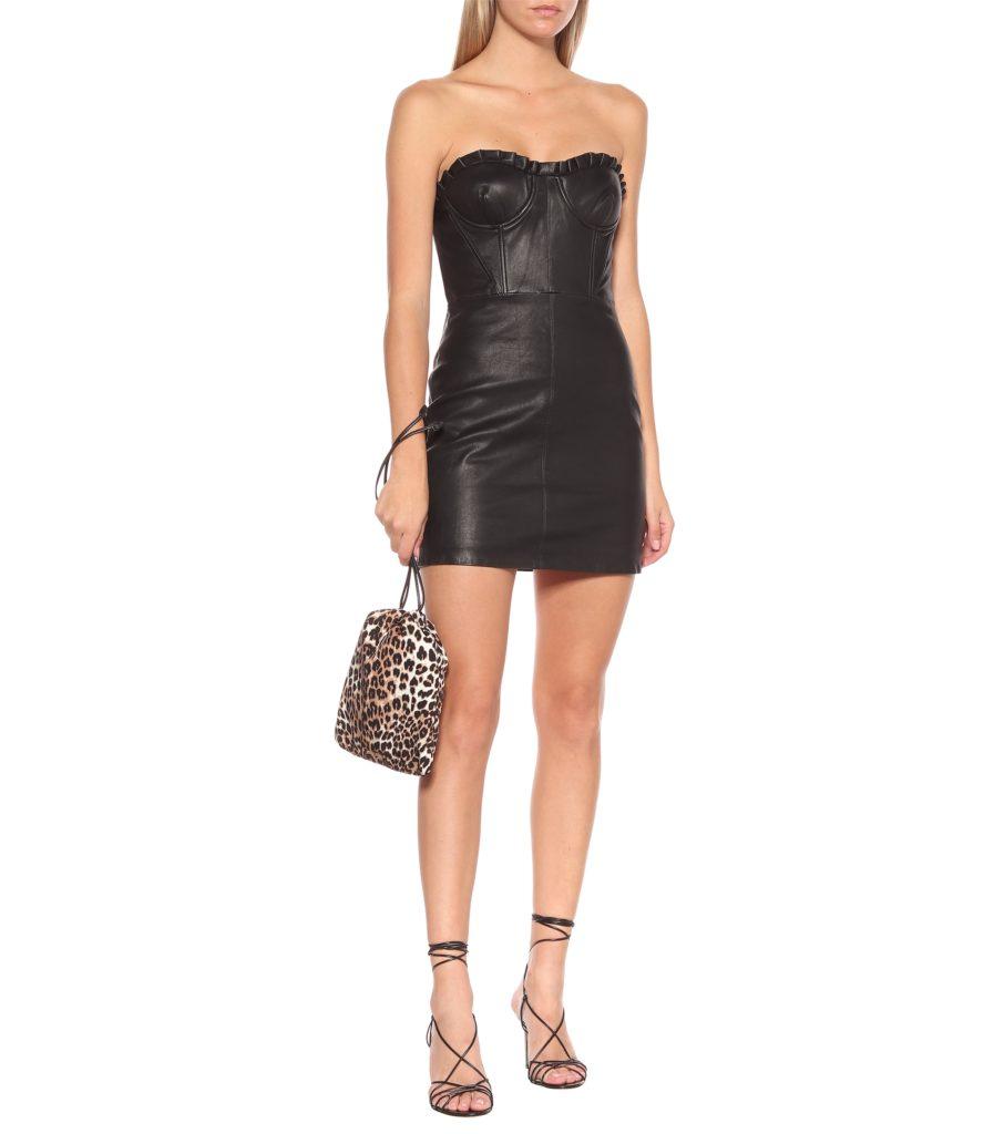 GRLFRND Julietta leather minidress $ 548