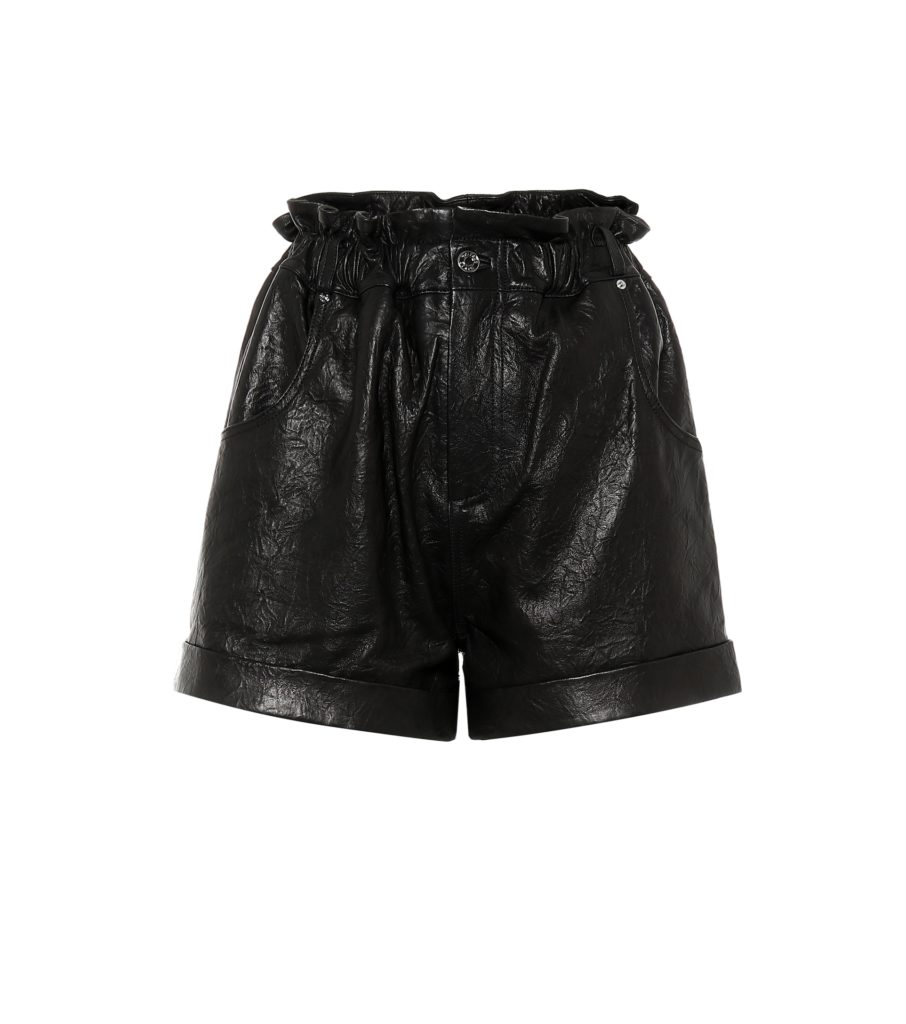 GRLFRND Shea leather high-rise shorts $338