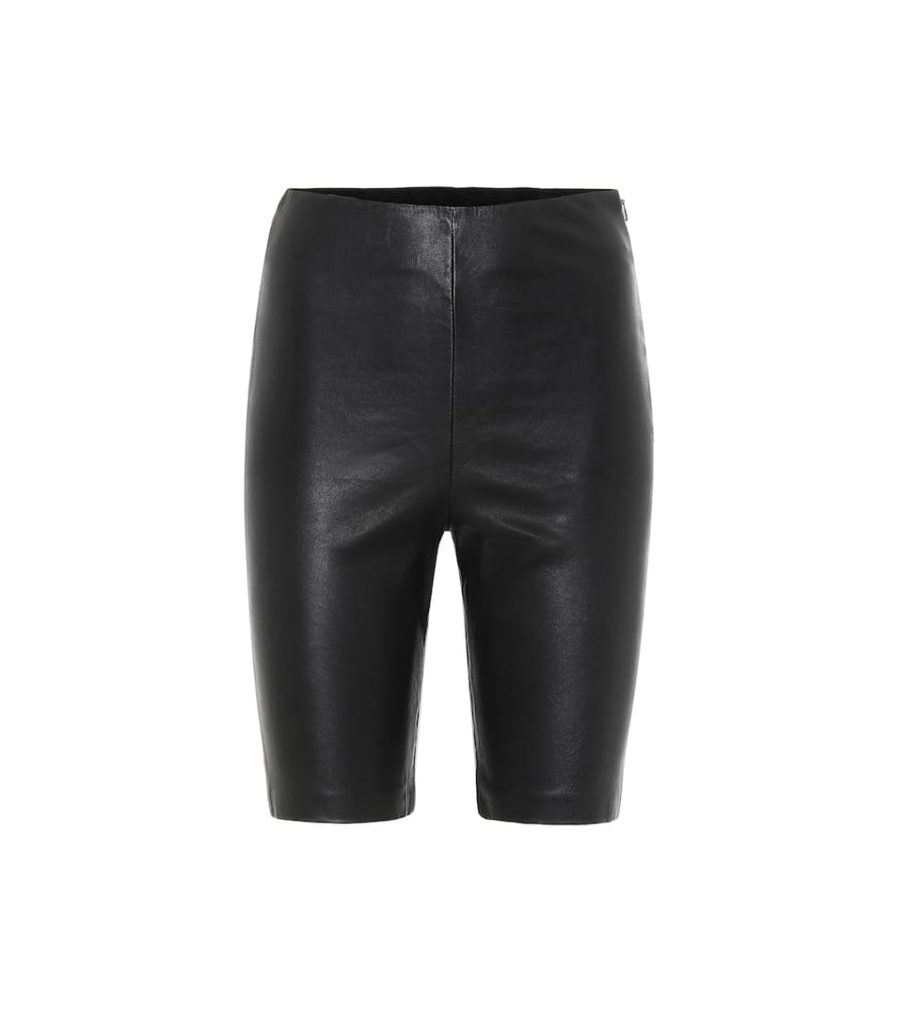 GRLFRND Carter leather biker shorts $ 398