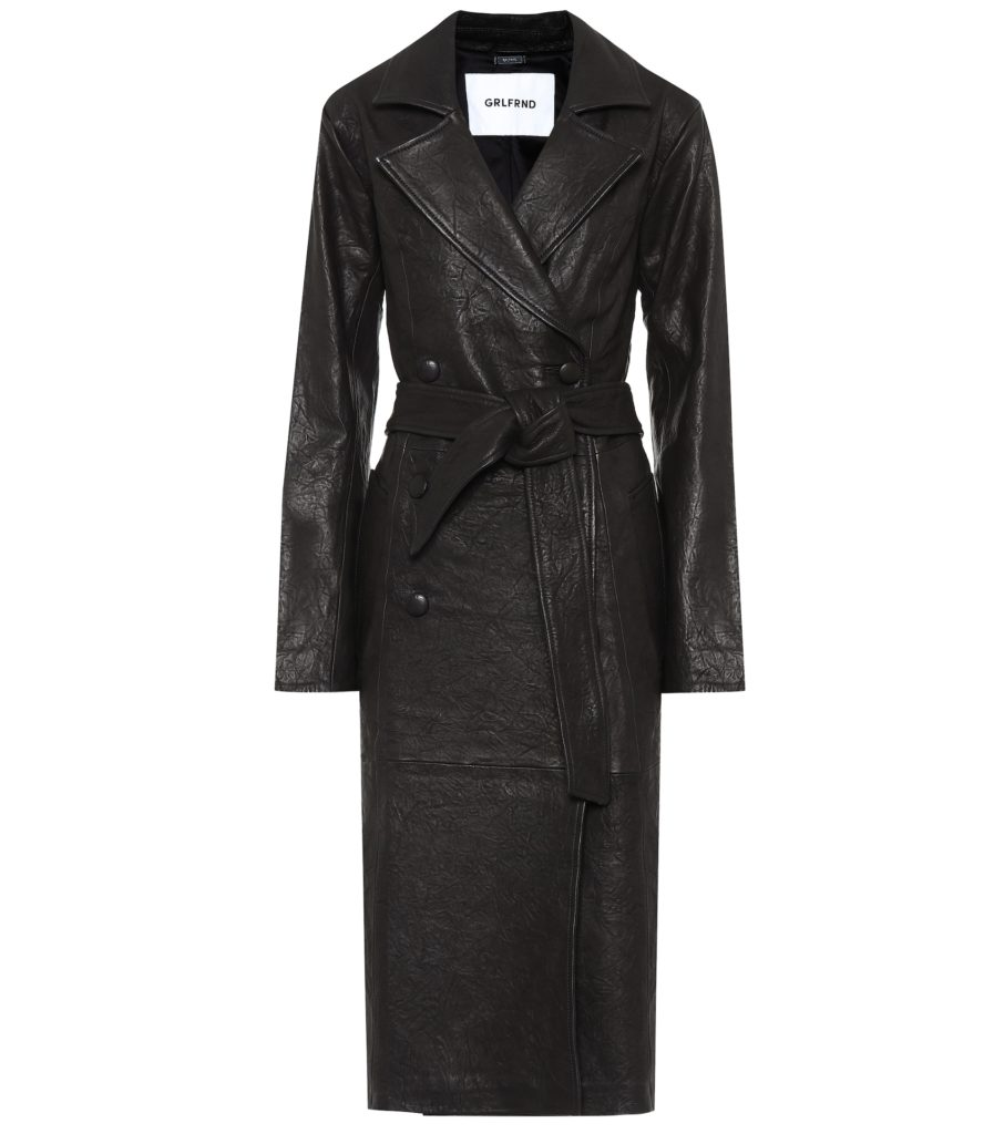 GRLFRND Lori leather trench coat $ 998