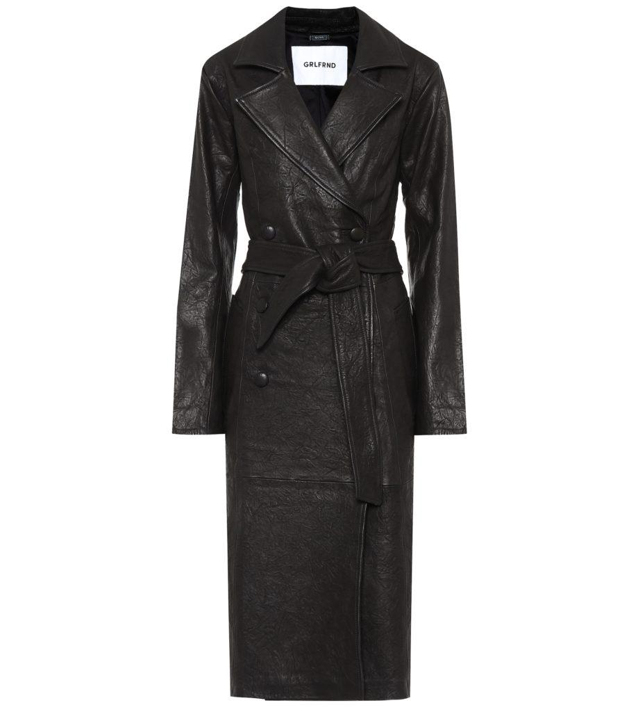GRLFRND Lori leather trench coat $ 998