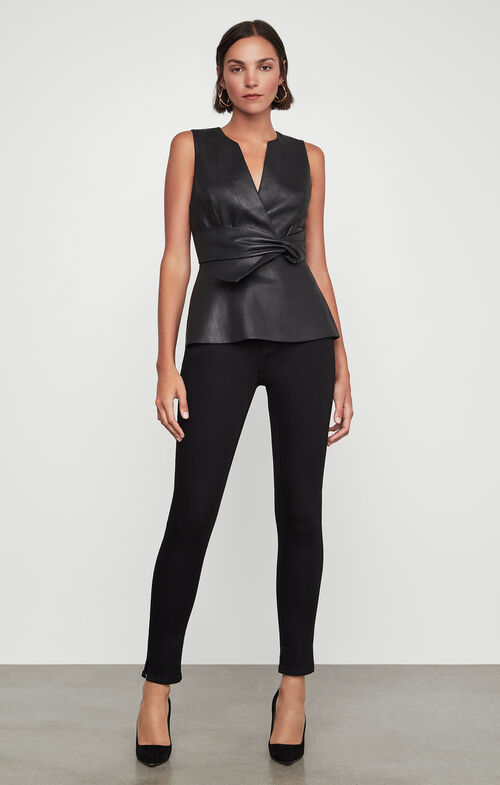 Faux Leather Top $198.00