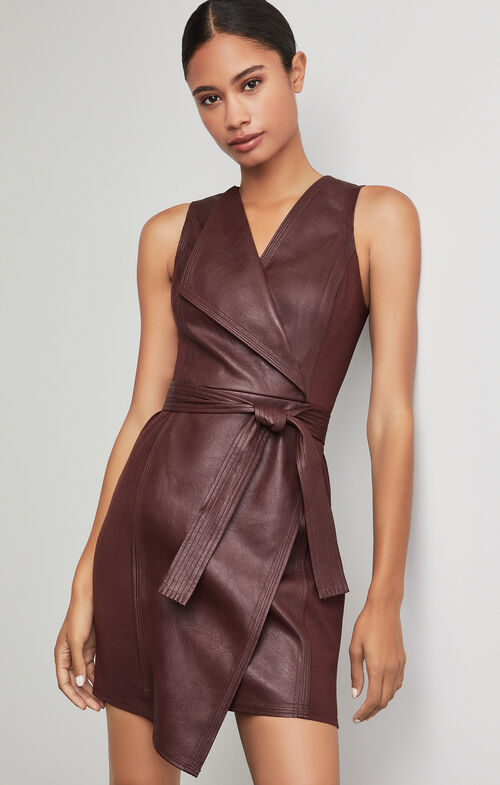 Layla Asymmetrical Pleather Dress $268.00