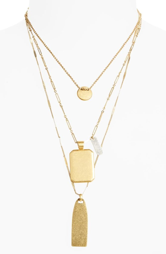 Treasure Pendant Necklace SetMADEWELL $48.00