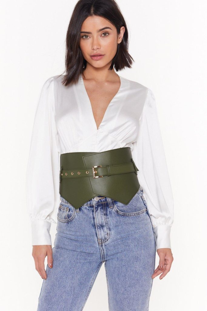Of Corset Size Matters Faux Leather Buckle Belt $15.00