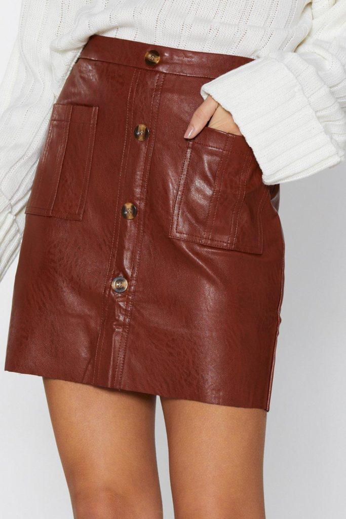 Mini By Mini Faux Leather Skirt $25.00