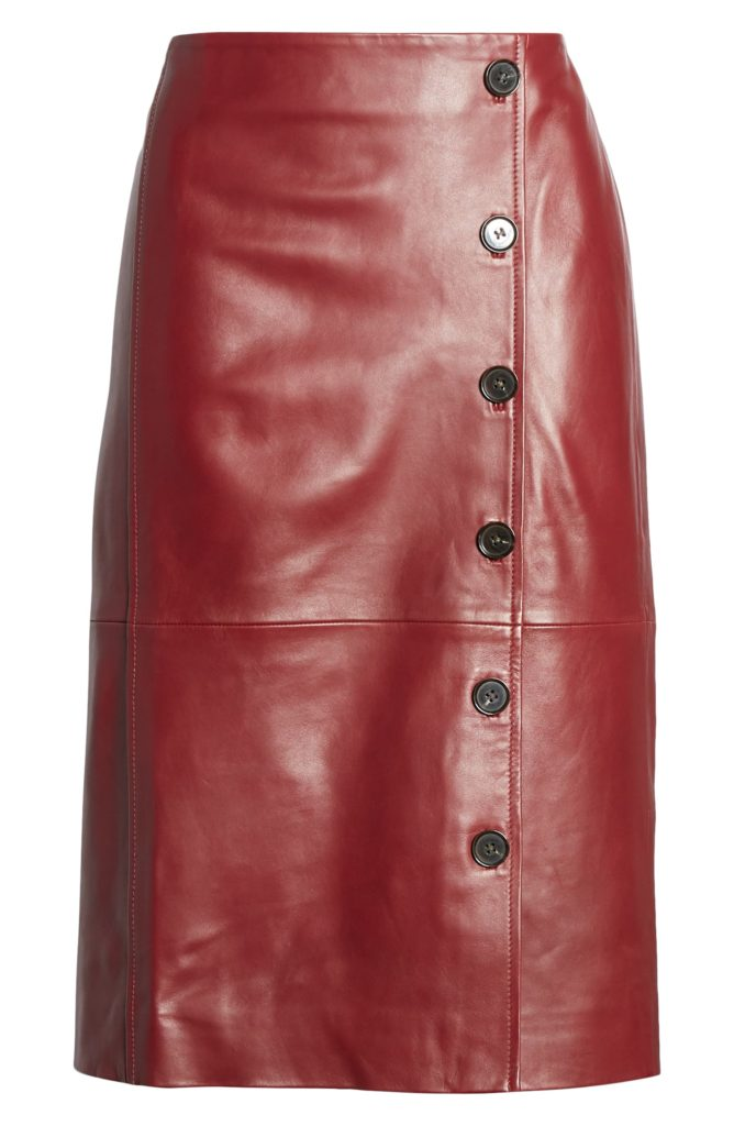 Leather Pencil Skirt $199.00