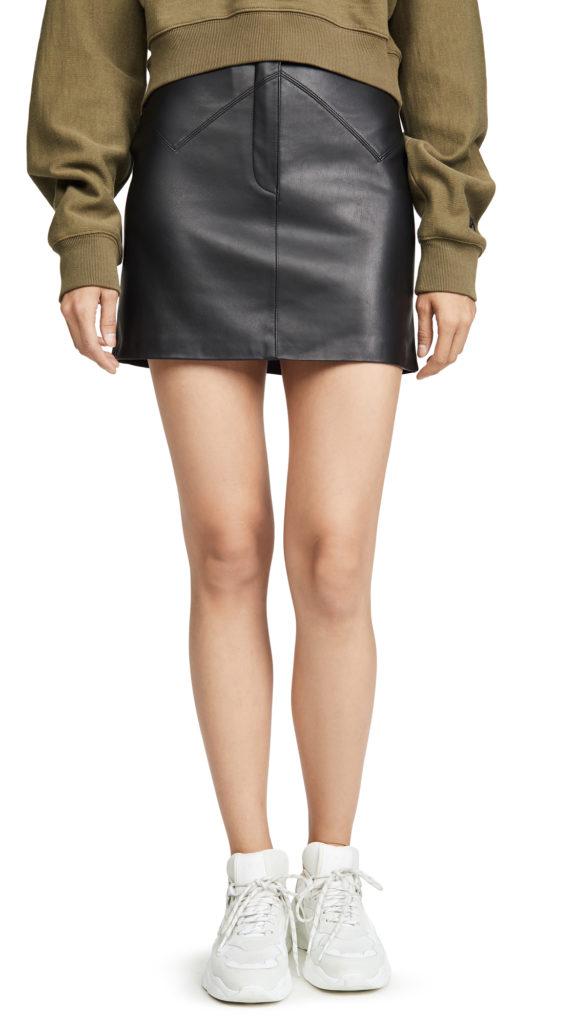 BB Dakota Keep Livin Vegan Leather Skirt $78.00