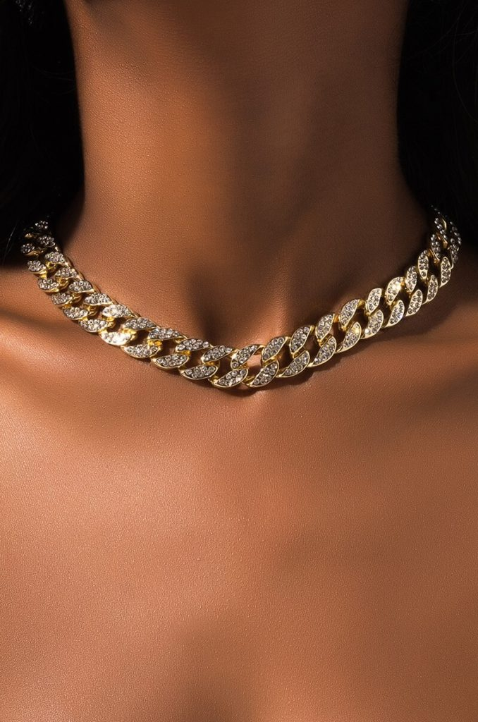BLINGED OUT CHAIN NECKLACE $26.90