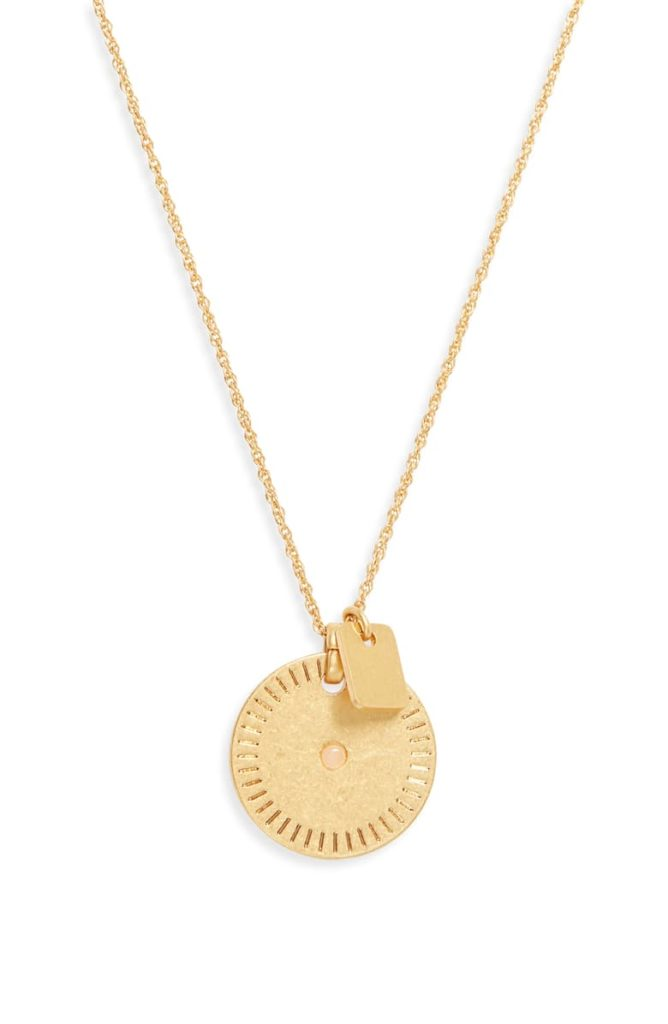 Etched Coin Necklace MADEWELL $34.00