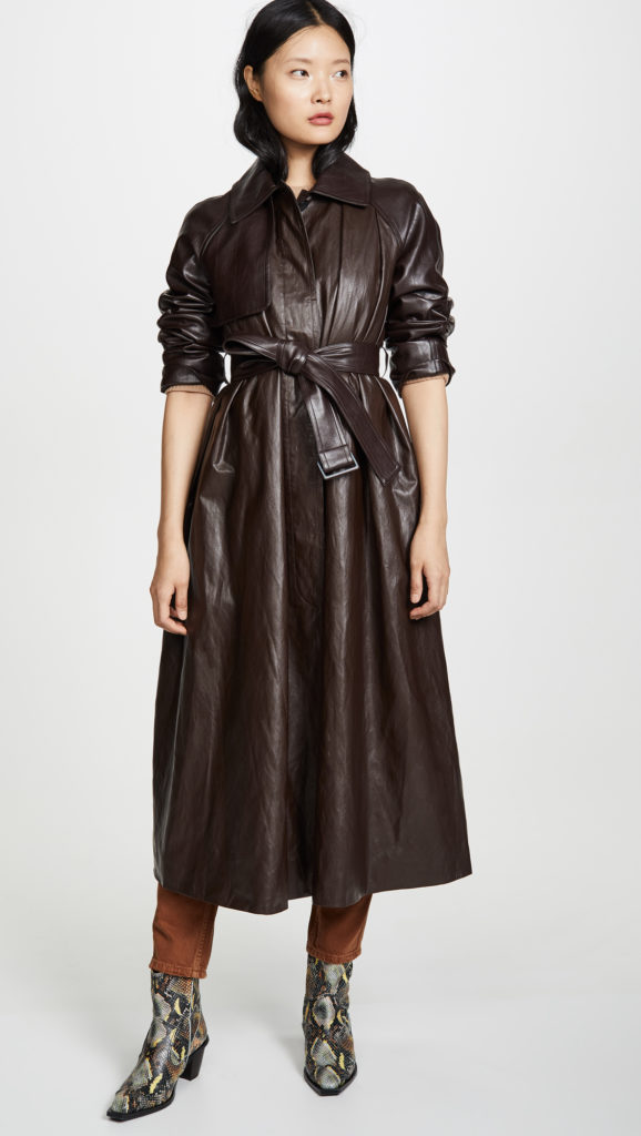 GOEN.J Faux Leather Trench Coat $890.00