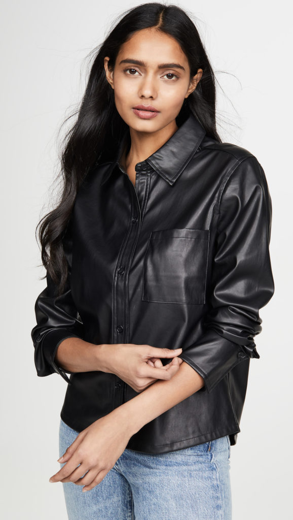 Habitual Taylor Faux Leather Shirt $178.00
