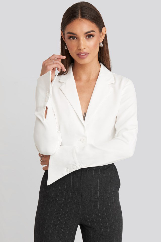 Wide Cuff Shirt White $53.95