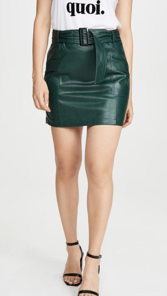 KENDALL + KYLIE Charlie Vegan Leather Skirt $69.00