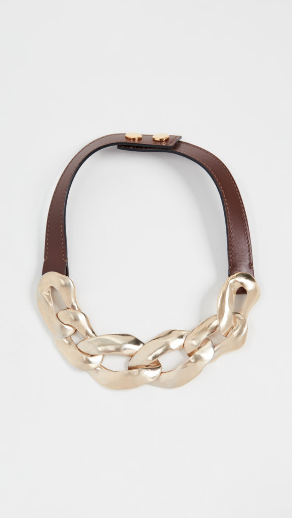Marni Metal and Leather Necklace $490.0