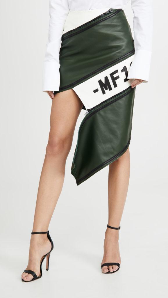 Monse Asymmetrical Leather Zip Miniskirt $1,990.00