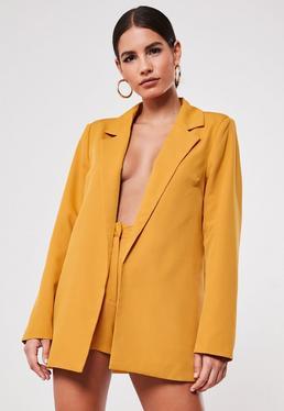 mustard co ord boyfriend blazer $54.00