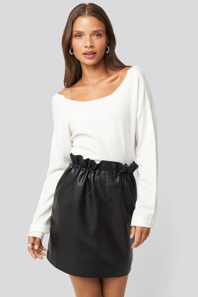 Drawstring Pu Skirt Black $47.95