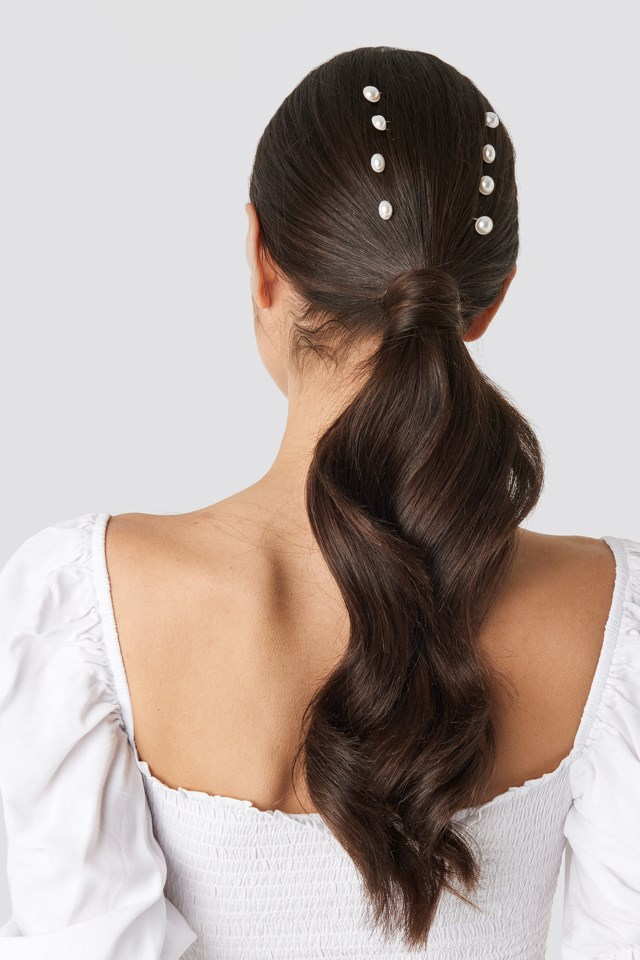 Multipack Pearl Hairpins White $17.95