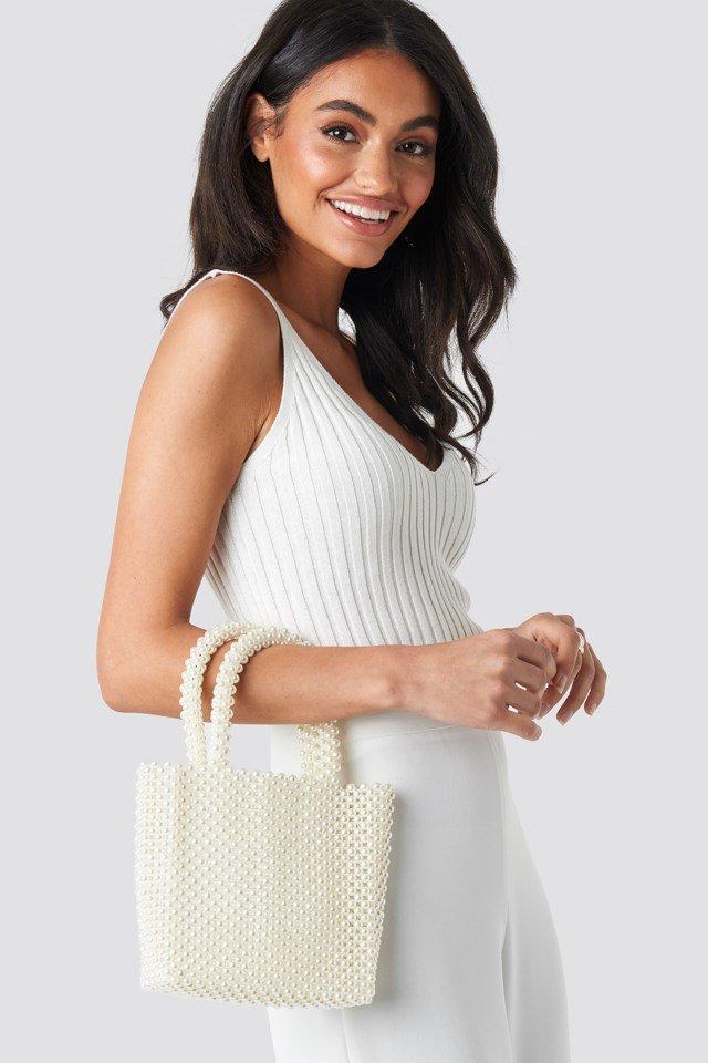 Pearl Bag White $47.95