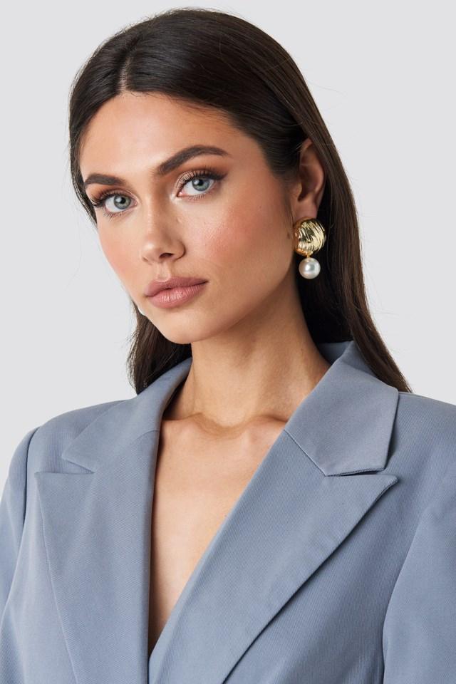 Yol Pearl Earring Gold $14.95