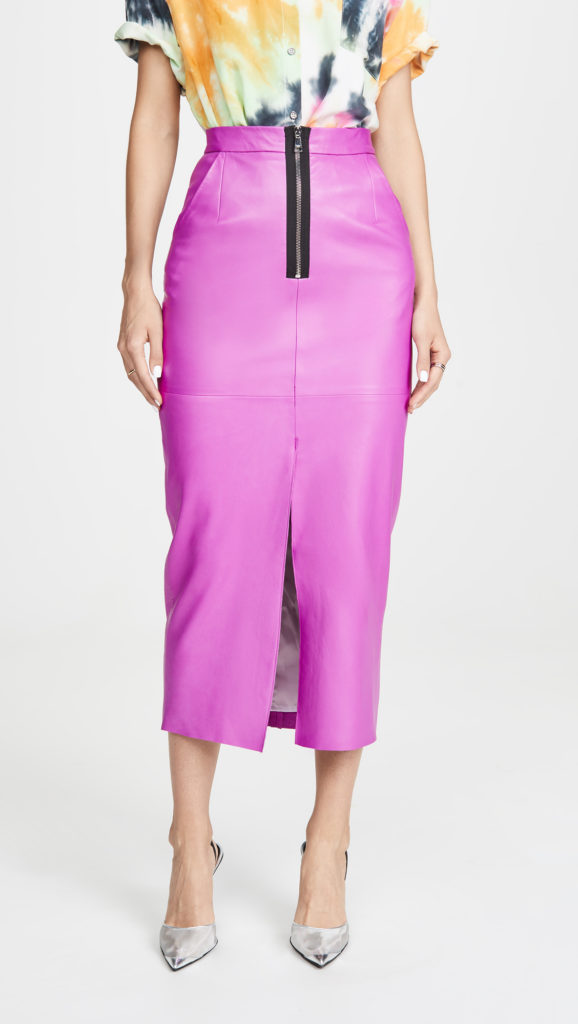 Natasha Zinko Leather Midaxi Skirt $1,345.00