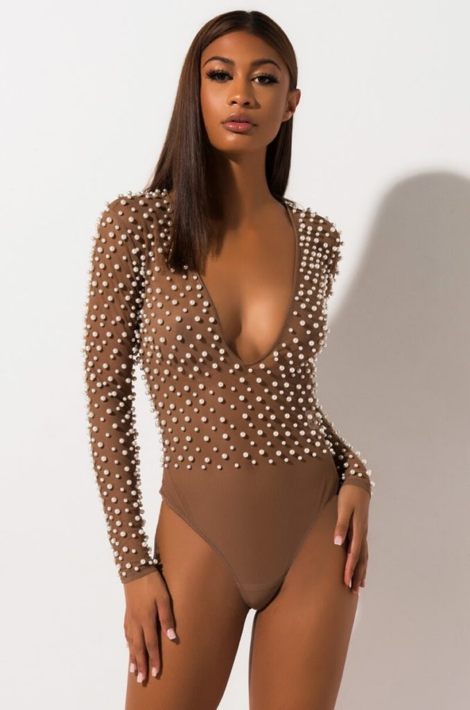 PEARLS AND ALL BODYSUIT $59.90