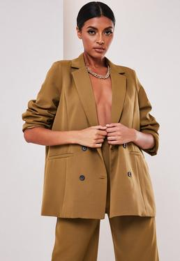 sofia richie x missguided taupe oversized tailored jacket $59.00