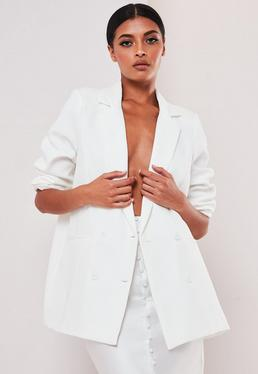 sofia richie x missguided white oversized tailored jacket $71.00