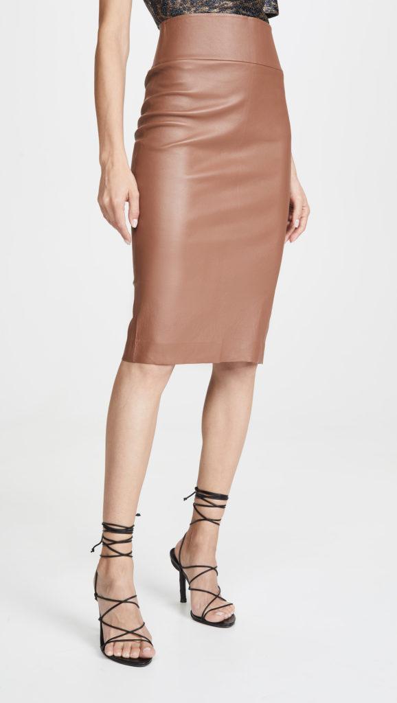 SPRWMN Leather Pencil Skirt $875.00