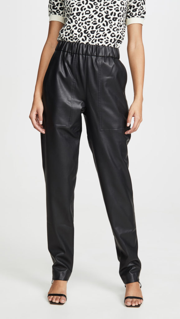 Tibi Faux Leather Joggers $450.00