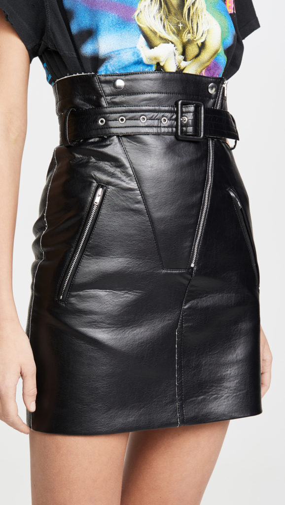 Toga Pulla Faux Leather Skirt $440.00