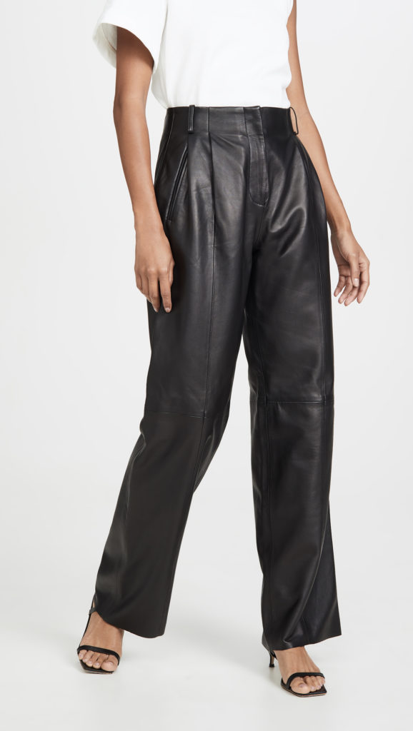 VEDA Bess Leather Trousers $898.00