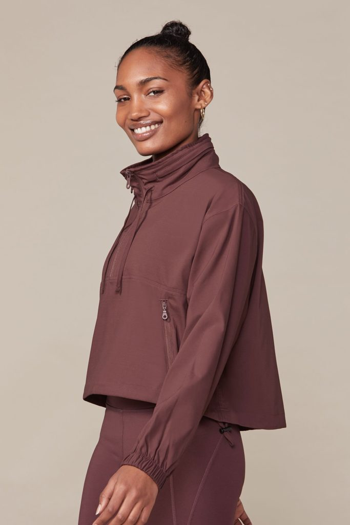 Black Hummingbird Half Zip Windbreaker $118.00