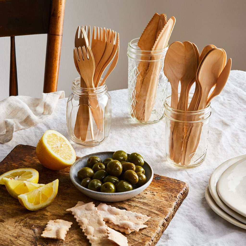Compostable Wooden Cutlery (Set of 100)$26