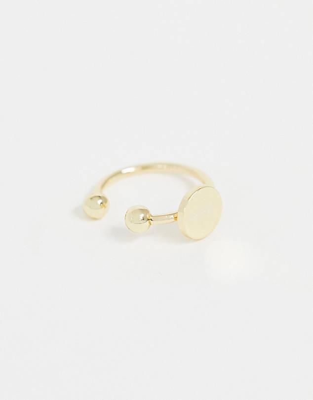 DESIGN mini disc ear cuff in gold tone $5.00