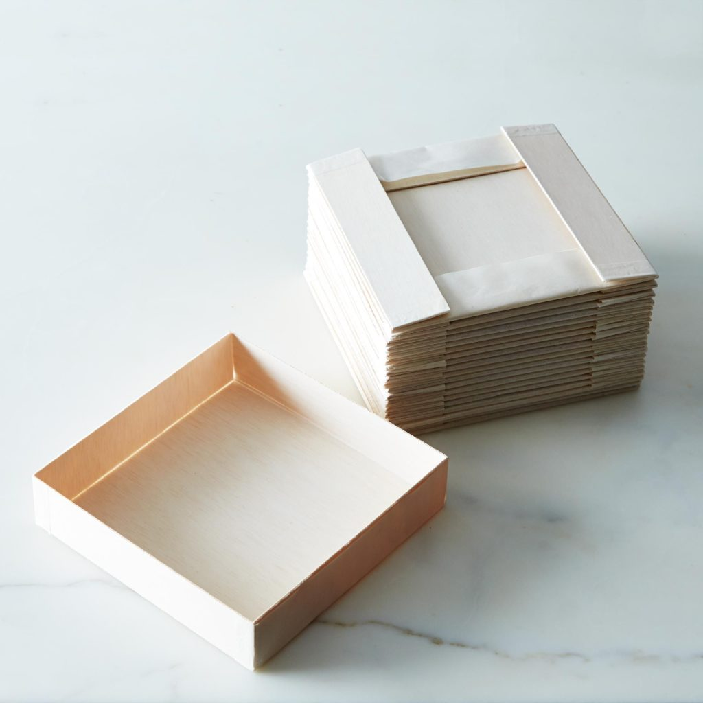 Collapsible Wooden Square Plates (Set of 20) $25