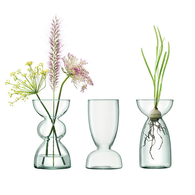 Recycled Glass Bulb Vase Trio $45.00