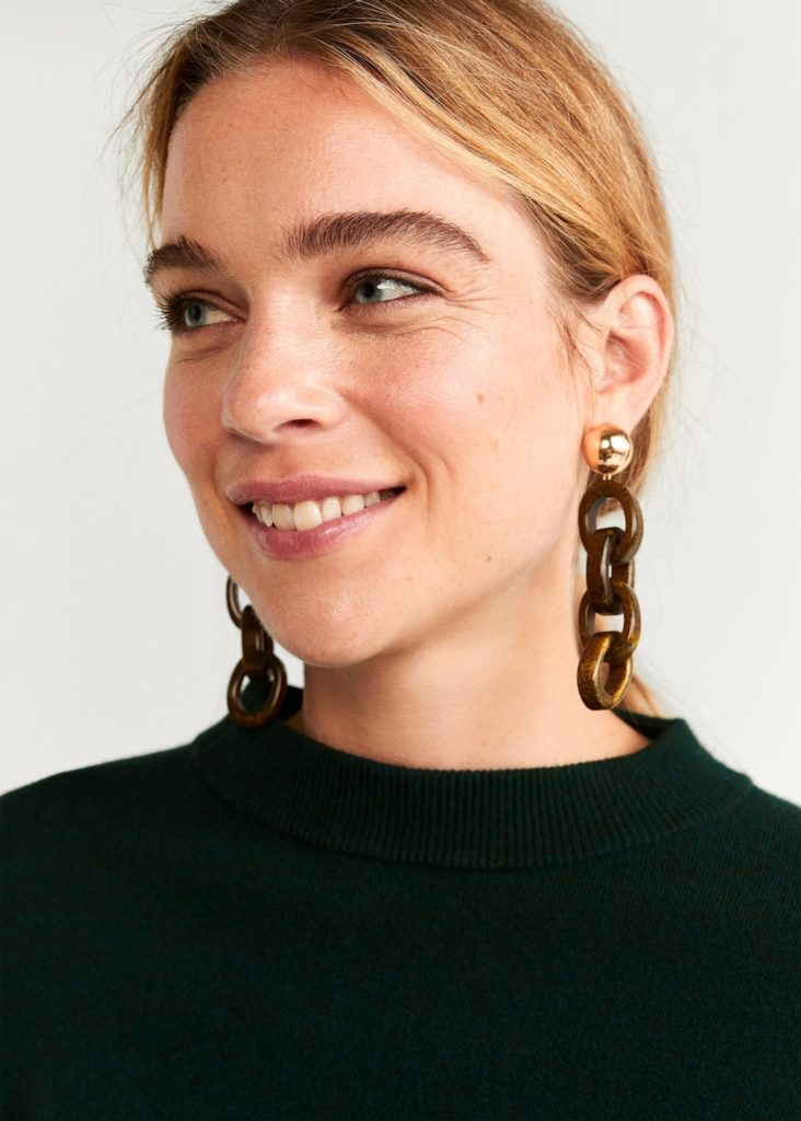 Link resin earrings $25.99