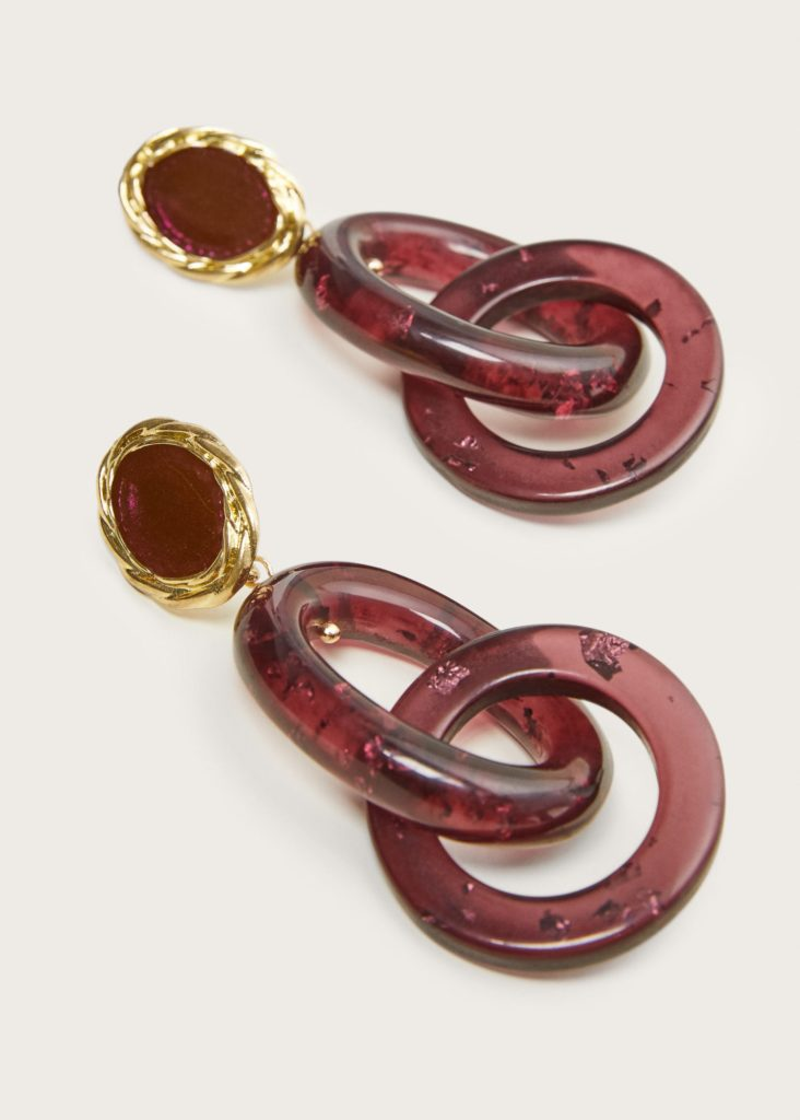 Resin pendant earrings $29.99