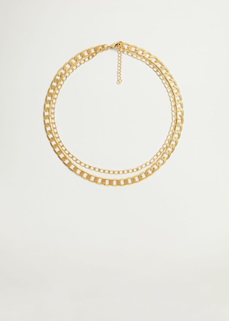 Link double necklace $59.99