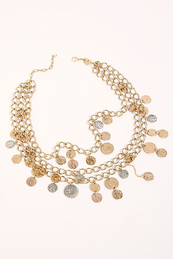 Drei Coin Collar Necklace $334.00