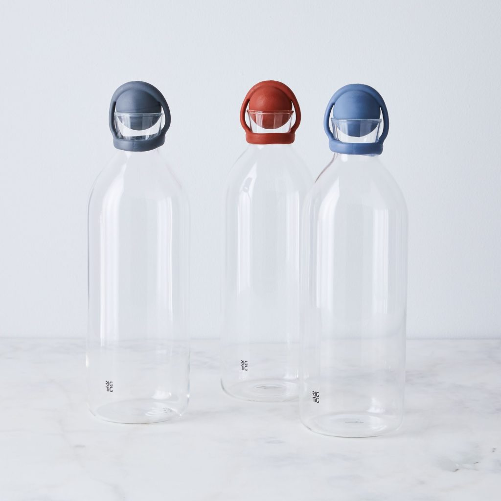 Glass Water Carafe With Stopper $30